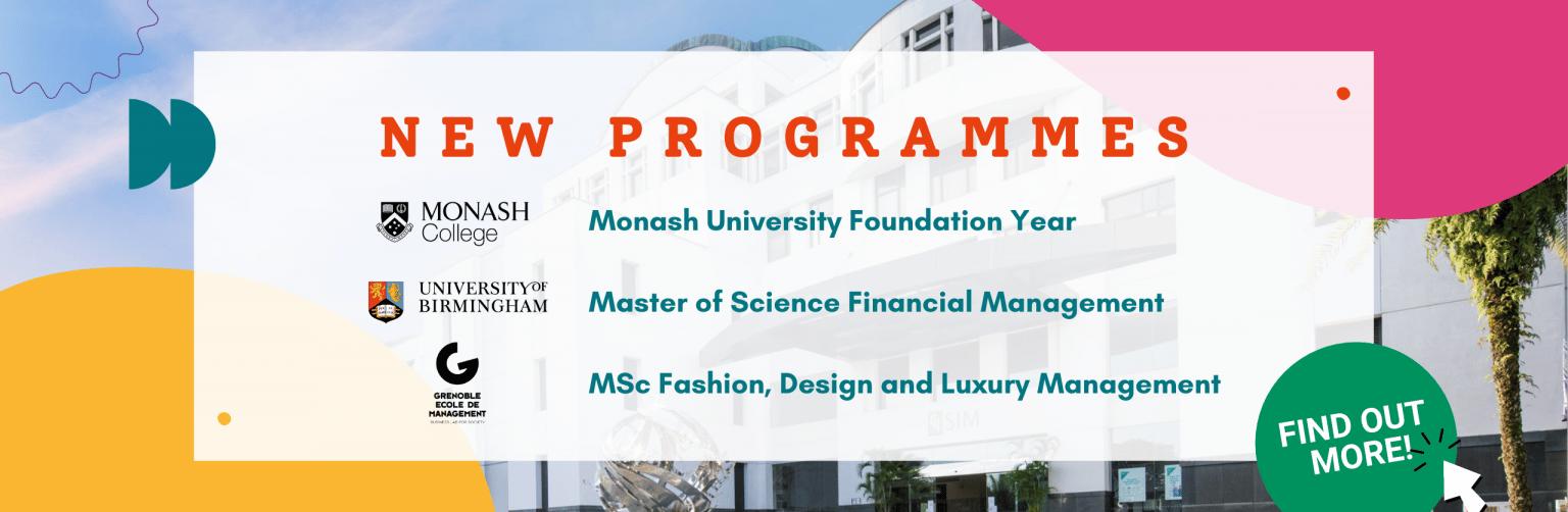 New Programmes
